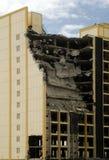 Demolition building. Building under demolition, part-destroyed Royalty Free Stock Photography