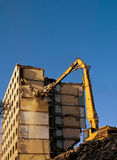 Demolition of a building Royalty Free Stock Photos
