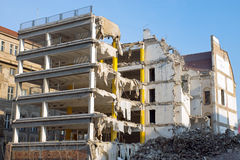 Demolition of a building Royalty Free Stock Image