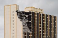 Demolition building. Building under demolition, part-destroyed Royalty Free Stock Images
