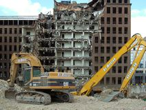 Demolition of building in Brussels Photo libre de droits