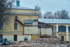 The demolition of building, destruction and ruins Royalty Free Stock Photos