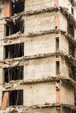 Demolition of a building. Demolition in detail -  cross-section of the building Royalty Free Stock Images
