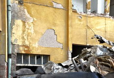 Demolition of building Stock Photo