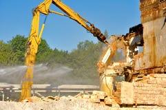 Demolition of building Stock Image