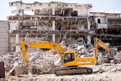 Demolition Building Royalty Free Stock Photos