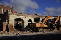 Demolition of Building Meridian Mississippi Stock Photos