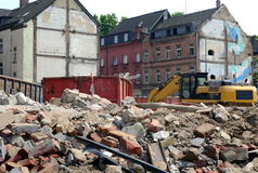 Demolition of a building Royalty Free Stock Photography
