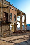 Demolition of a building. Demolition of an old building Stock Photos