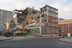 Demolition of a building Stock Photo