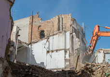 Demolition of building Royalty Free Stock Image