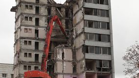 Demolition building Royalty Free Stock Images