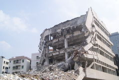 Demolition of buildings, in China Stock Photos