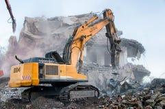 Demolition of buildings in urban Stock Photos
