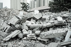 Demolition of buildings in urban environments Stock Images