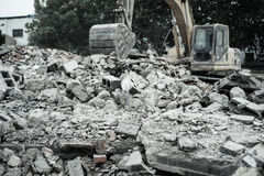 Demolition of buildings in urban environments Royalty Free Stock Photos
