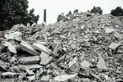 Demolition of buildings in urban environments Royalty Free Stock Photography
