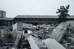Demolition of buildings in urban environments Stock Photo
