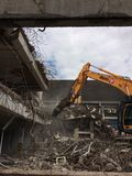 Demolition of car park in Mayflower Plymouth Royalty Free Stock Photo