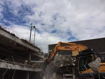 Demolition of car park in Mayflower Plymouth Royalty Free Stock Photos