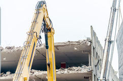 Demolition car park Stock Images