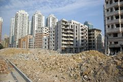 Demolition in Chinese city Stock Images