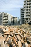 Demolition in Chinese city Stock Photo