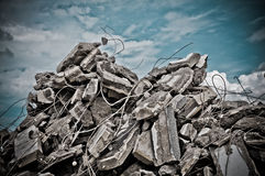 Demolition concrete Royalty Free Stock Photography