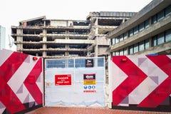Demolition and  Construction Site Birmingham UK Royalty Free Stock Photo