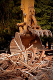 Demolition crane claw Royalty Free Stock Images