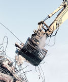 Demolition crane Royalty Free Stock Images