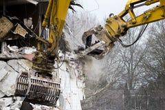 Demolition cranes Royalty Free Stock Photography