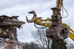 Demolition cranes Stock Photo