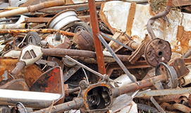 Demolition derby car junk parts Royalty Free Stock Photo