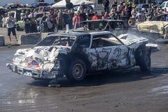 Demolition derby car. Napierville demolition derby, July 2, 2017 Stock Images