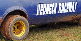Demolition derby car redneck raceway Royalty Free Stock Images
