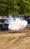 Demolition Derby Cars. Cars at a demolition derby in Tallinn, Estonia.  This is RomuRing 2008 on May 25, 2008 Stock Images