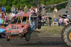Demolition derby Royalty Free Stock Photo