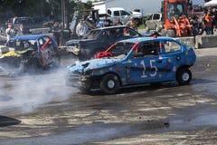 Demolition derby. Napierville demolition derby, July 2, 2017 Royalty Free Stock Photo