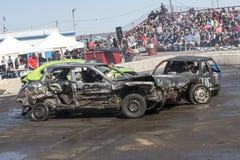 Demolition derby. Napierville demolition derby, July 2, 2017 Stock Photos