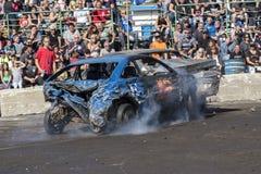 Demolition derby. Napierville demolition derby, July 2, 2017 Stock Images