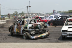 Demolition derby Stock Photo