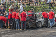 Demolition derby officials Royalty Free Stock Photos
