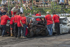 Demolition derby officials Royalty Free Stock Photo