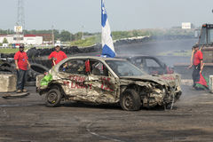 Demolition derby winner Stock Photography