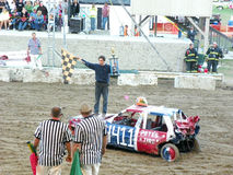 Demolition Derby Winner Stock Images