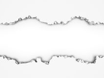 Demolition destruction cracked white wall. Abstract background. 3d render illustration Royalty Free Stock Photos