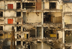 Demolition in detail. cross-section of the building Stock Photos