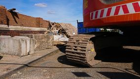 Demolition and Diggers royalty free stock photos