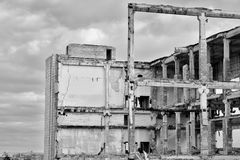 Demolition and dismantling of the remnants of the large industri Stock Image